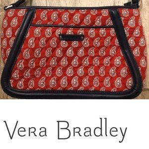 Vera Bradley Trimmed Trapeze Crossbody Red Bandana